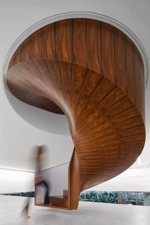 World of architecture 30 wooden types of stairs for for Interior design styles wood