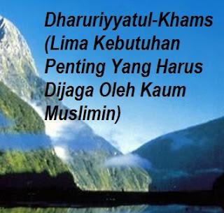 5 (Lima) Penjagaan Islam Terhadap Ummat (Dharuriyyatul Khams)