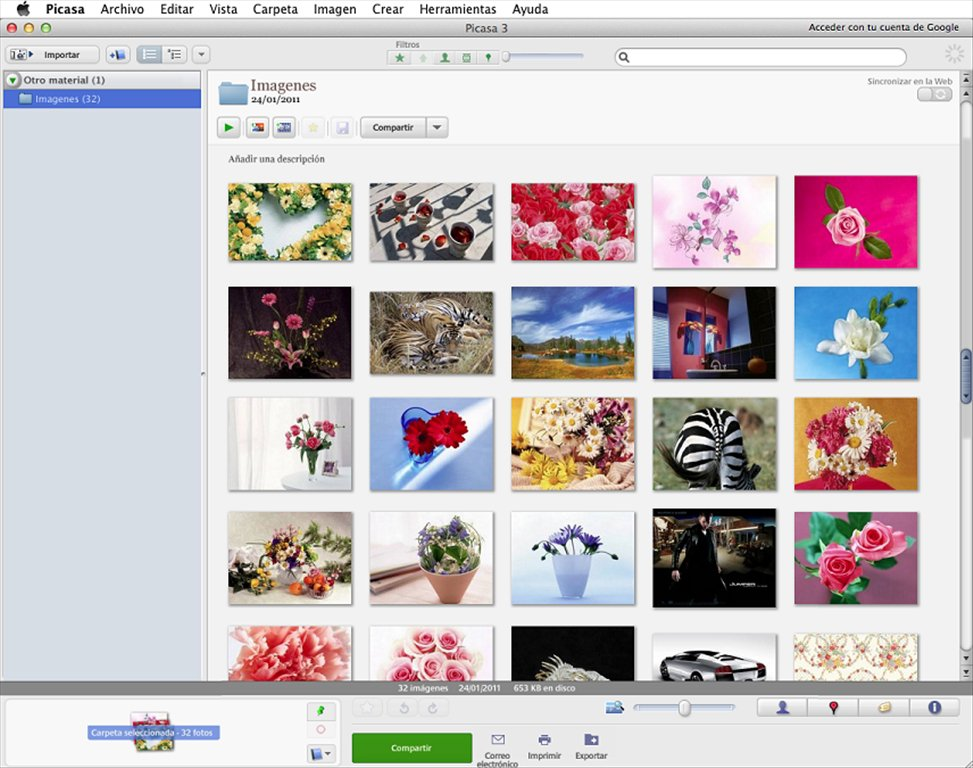 Fotoplayer 2.0 flash slideshow for picasa 9