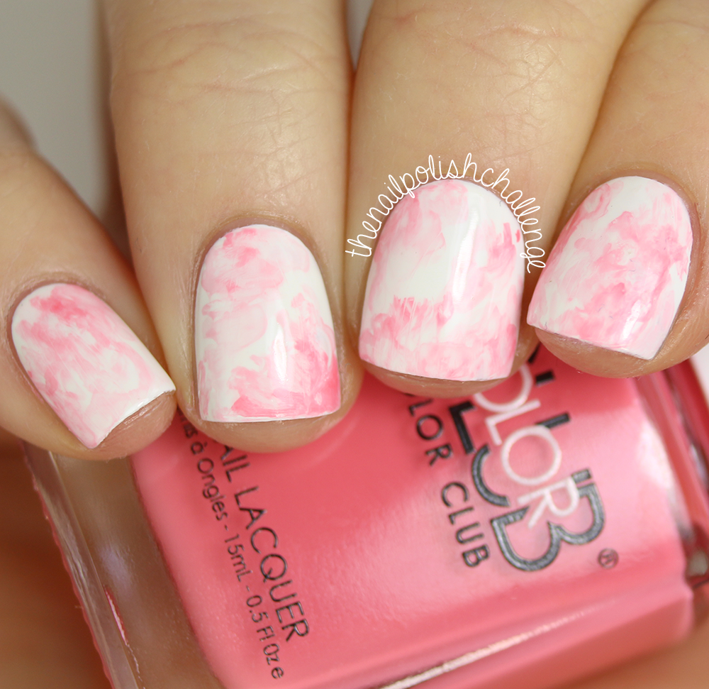 Kelli marissa pink marble watercolor nail art pink marble watercolor nail art prinsesfo Choice Image