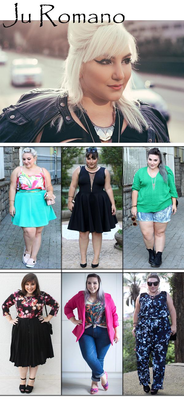 Blogueira Plus Size Ju Romano Looks Modelo Curvy Estilo Fashion Blog Moda Beleza