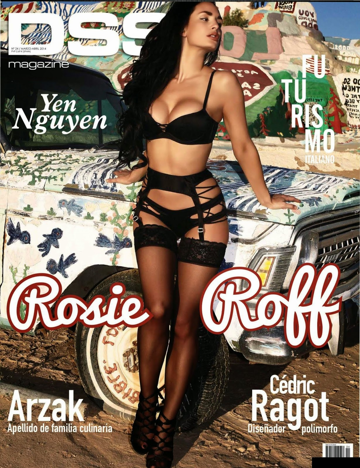 Rosie Roff On The Cover Of DSS Magazine (NSFW)