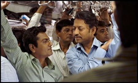 Nawazuddin Siddique e Irrfan Khan en 'The lunchbox' (2013)