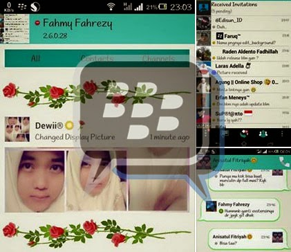 Download App BBM Mod Themes Simple  2.6.0.30