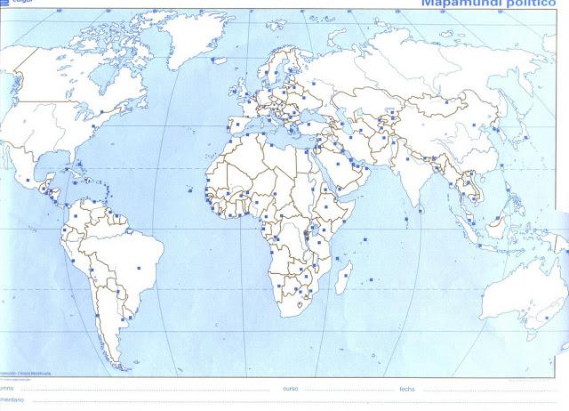 Mapas mudos planisferio fisico  Imagui