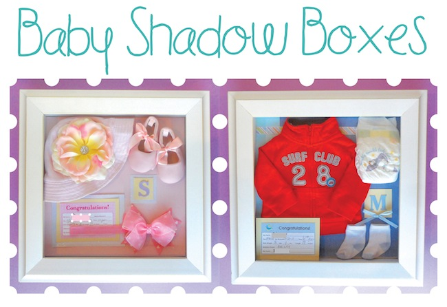 how to make a baby shadow box
