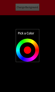 Android trainner color picker in android
