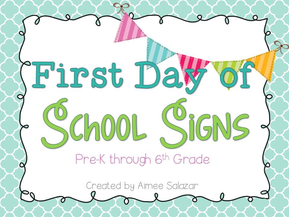 First Day Of First Grade Sign First day of school signs.