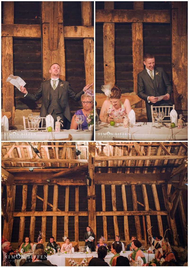 Wedding speeches at Blackthorpe Barn