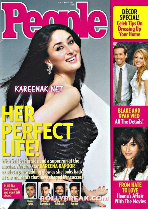 Kareena Kapoor People Magazine Cover October 2012 - Kareena Kapoor on Cover of People Magazine