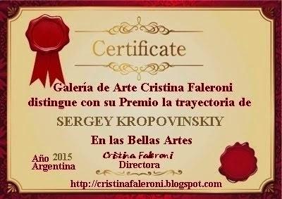 SERGEY KROPOVINSKIY - Galardonado.