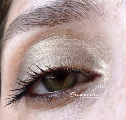 Rouge Bunny Rouge Fire Drops Loose Glitter Pigment: Sleeping Under A Mandarin Tree - swatch on eyes worn