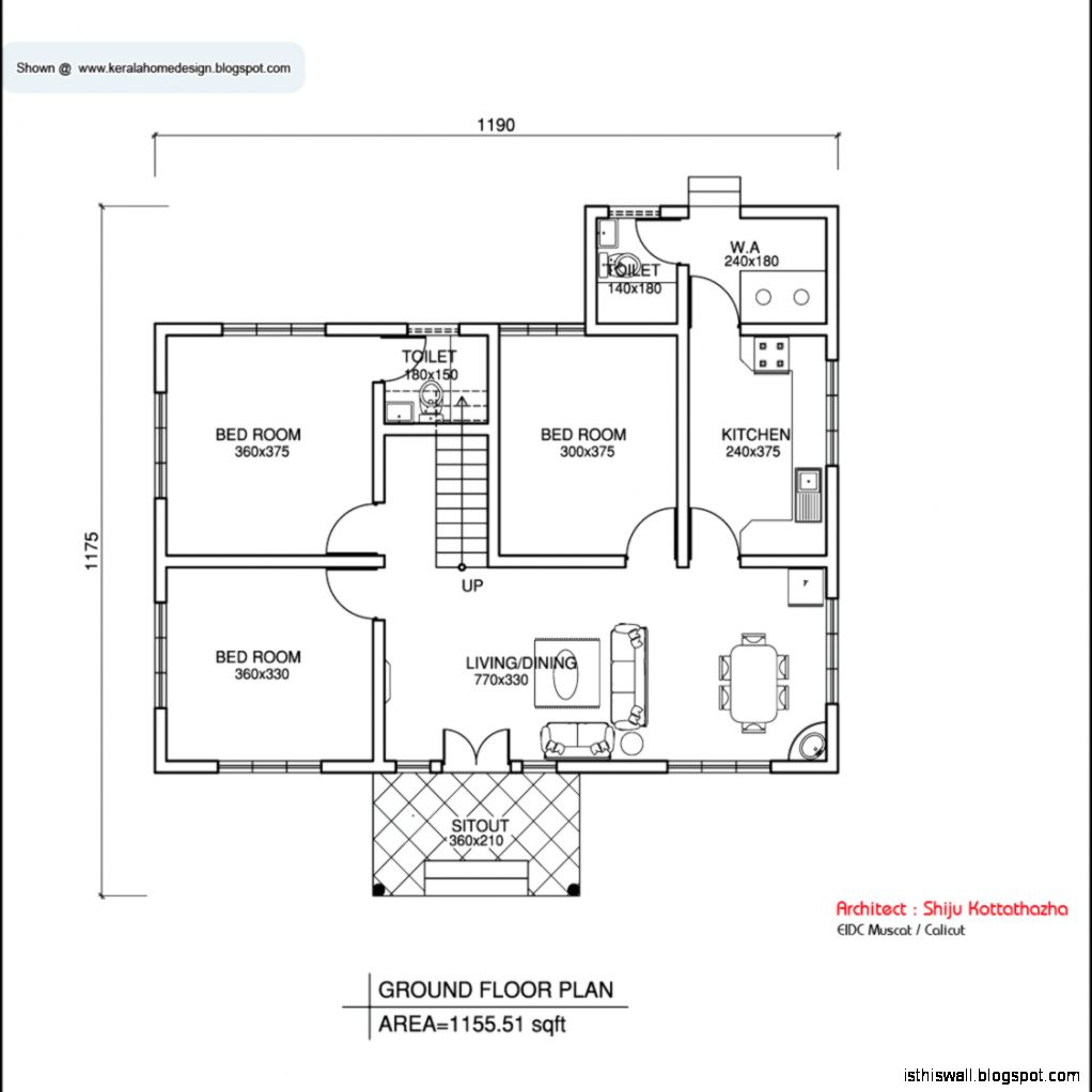 Indian home design ground floor plans - Home design