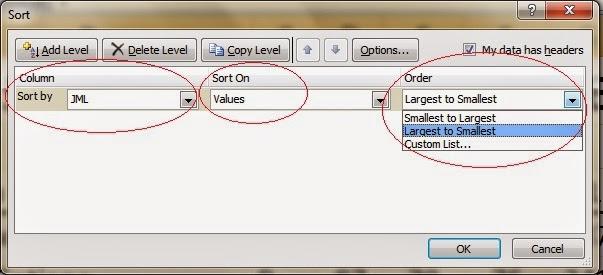 Cara melakukan sorting pada Excel