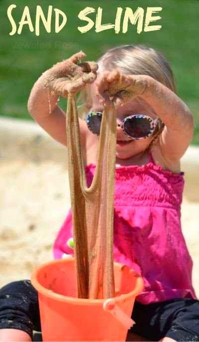 how to make sand slime