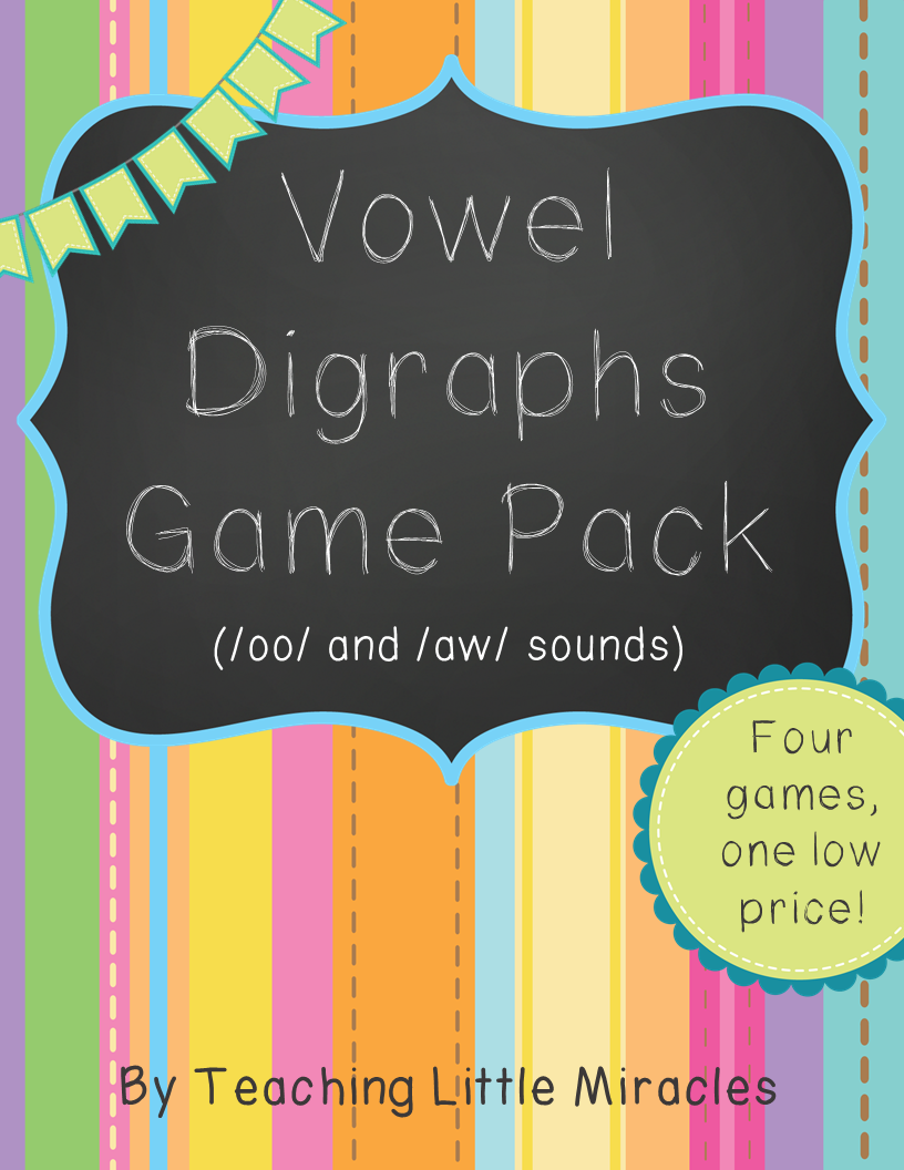 http://www.teacherspayteachers.com/Product/Vowel-Digraph-Game-Pack-oo-oo-aw-au-1360533