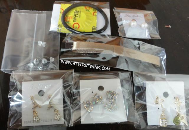 Korean earrings from Gmarket