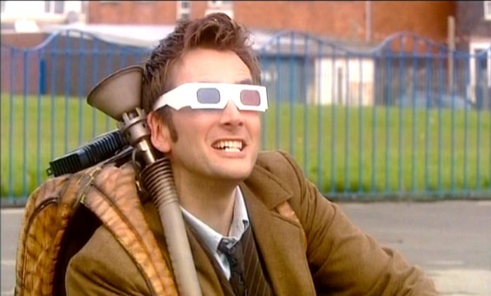 Whatever you think of this facial expression, just remember - it's a photo of David Tennant watching the 50th Anniversary Special in 3-D.