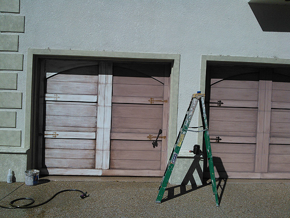 2012 04 01 everything i create paint garage doors to for Faux painting garage doors look like wood
