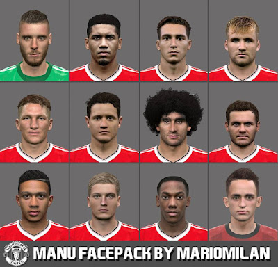 PES 2016 Manchester United Facepack by MarioMilan
