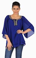 Bluza albastra cu aplicatii 001A
