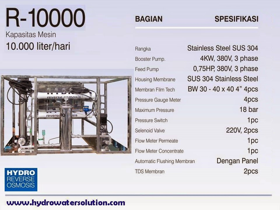 Reverse Osmosis Industri, Filter Air Industri, Penjernih Air Industri, Penyaring Air Industri
