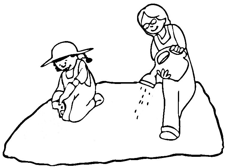 Maro 39 s kindergarten for Planting seeds coloring pages