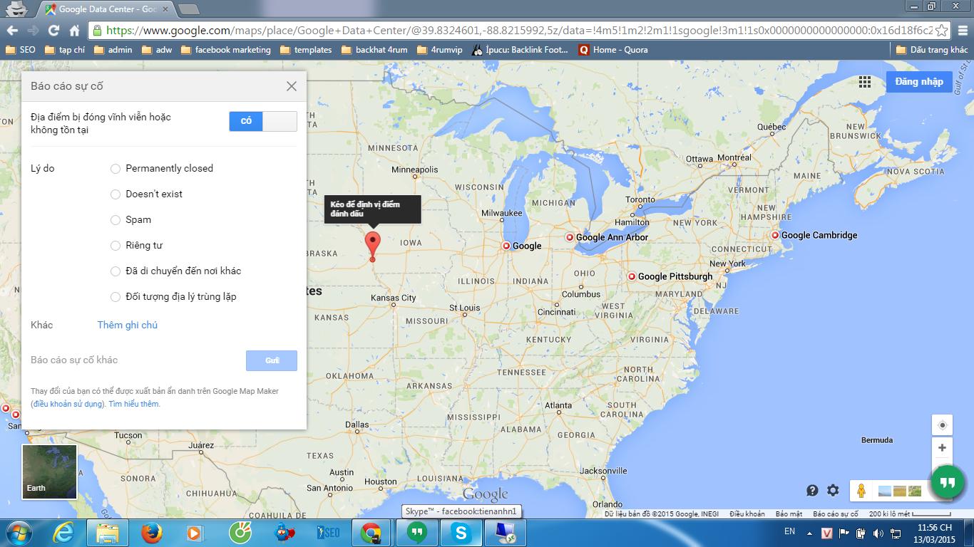 tính năng gửi báo cáo sự cố trong Google map