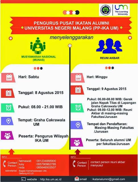 Reuni Akbar Semua Jurusan di UM 2015