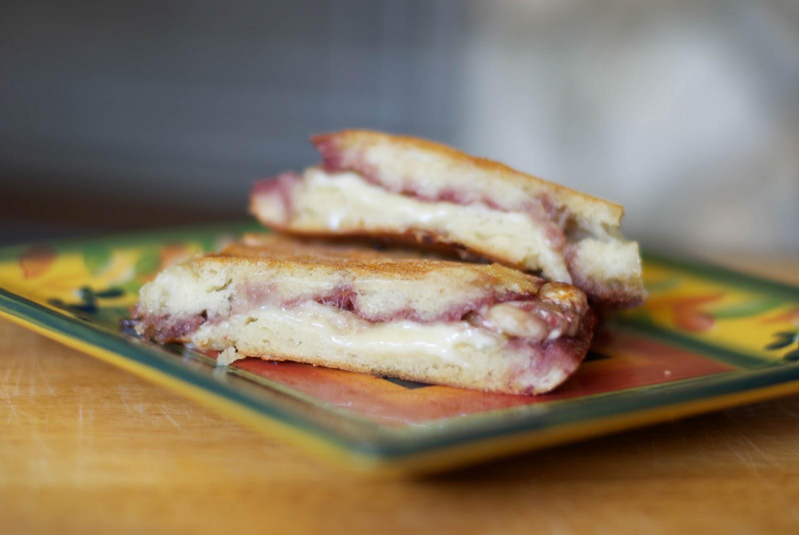brie raspberry jam panini 4 ciabatta rolls cut in half 12 oz brie ...