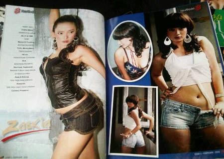 Penampilannya Zaskia di majalah itu tentunya berbanding terbalik ...