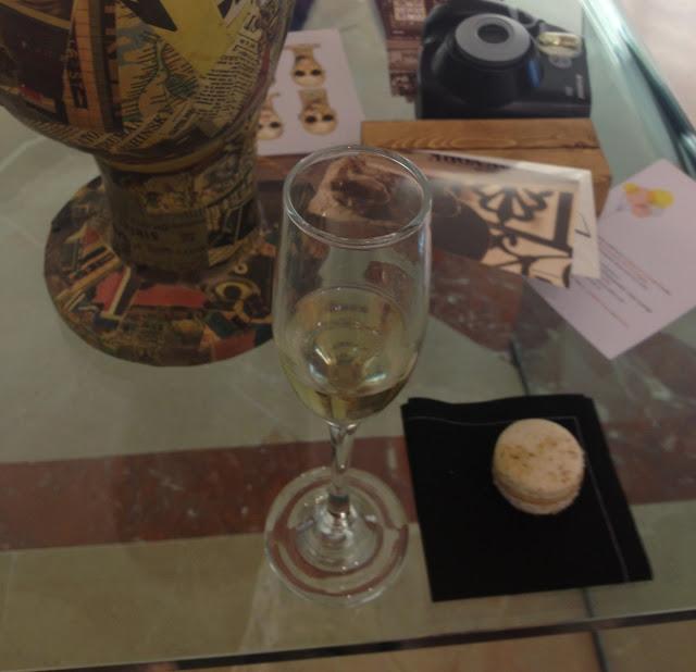 macaron e champagne