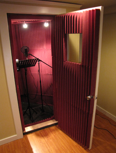 gallery for professional music studio booth