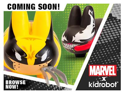 """Marvel x Kidrobot Wolverine & Venom Labbit 7"""" Vinyl Figures"""