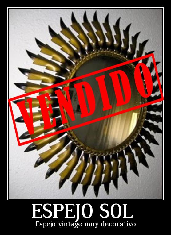 Espejo vintage con forma de sol vendido el merkadillo for Espejos decorativos con forma de sol