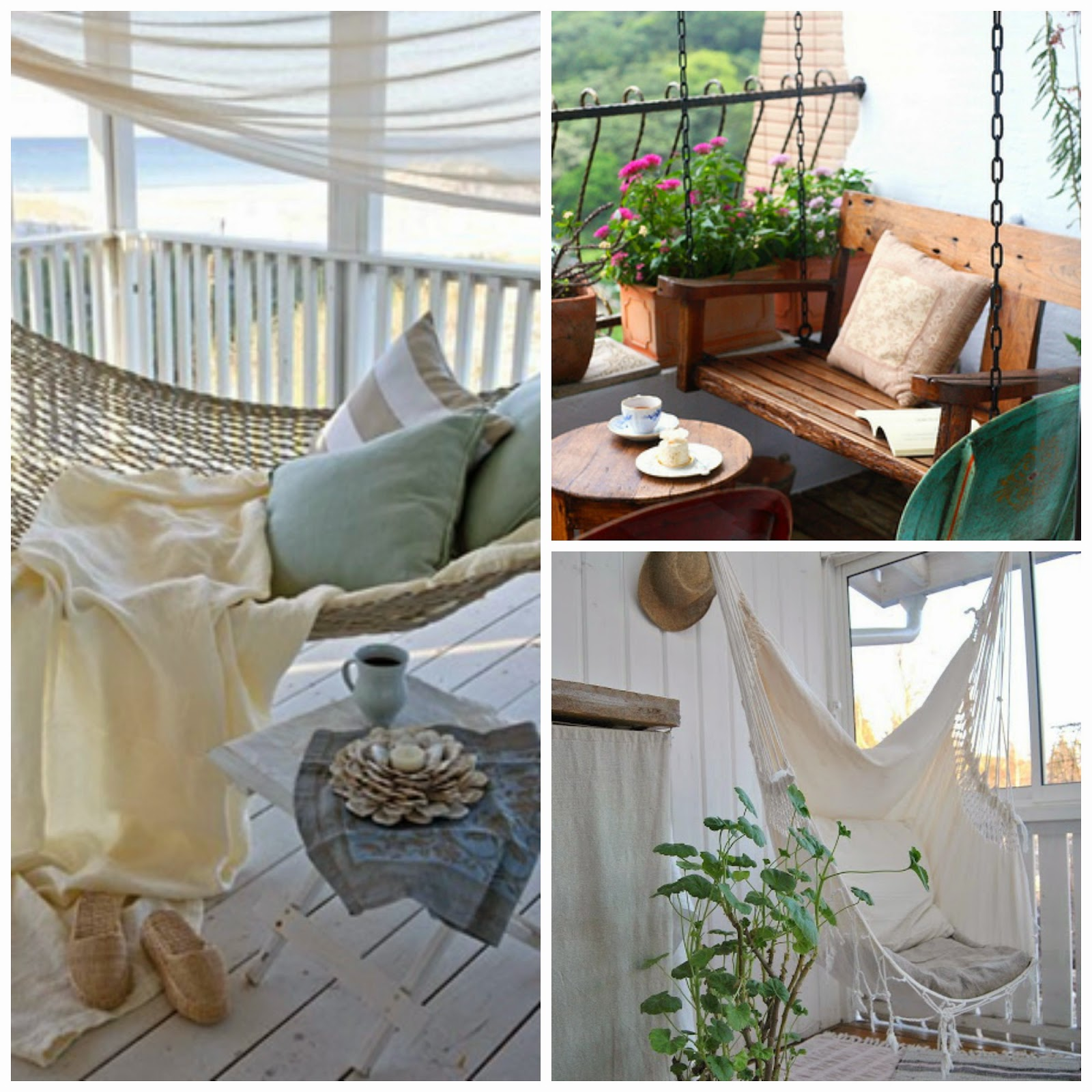 Magnolia styles 5 steps to decorate your small balcony or for Balcony hammock