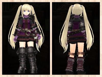 スケイルアーマー紫1+桃2 重量化