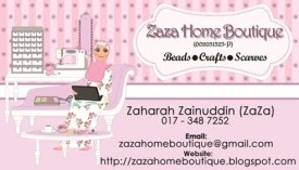ZaZa Home Boutique Business Card