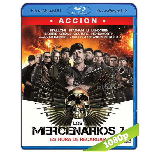 Los Mercenarios 2 (2012) Full HD BRRip 1080p Audio Dual Latino/Ingles 5.1