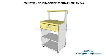 Como armar mueble de cocina melamina encimera postformada | Adagui ...