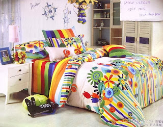 Sprei jepang Motif Ikea Rainbow