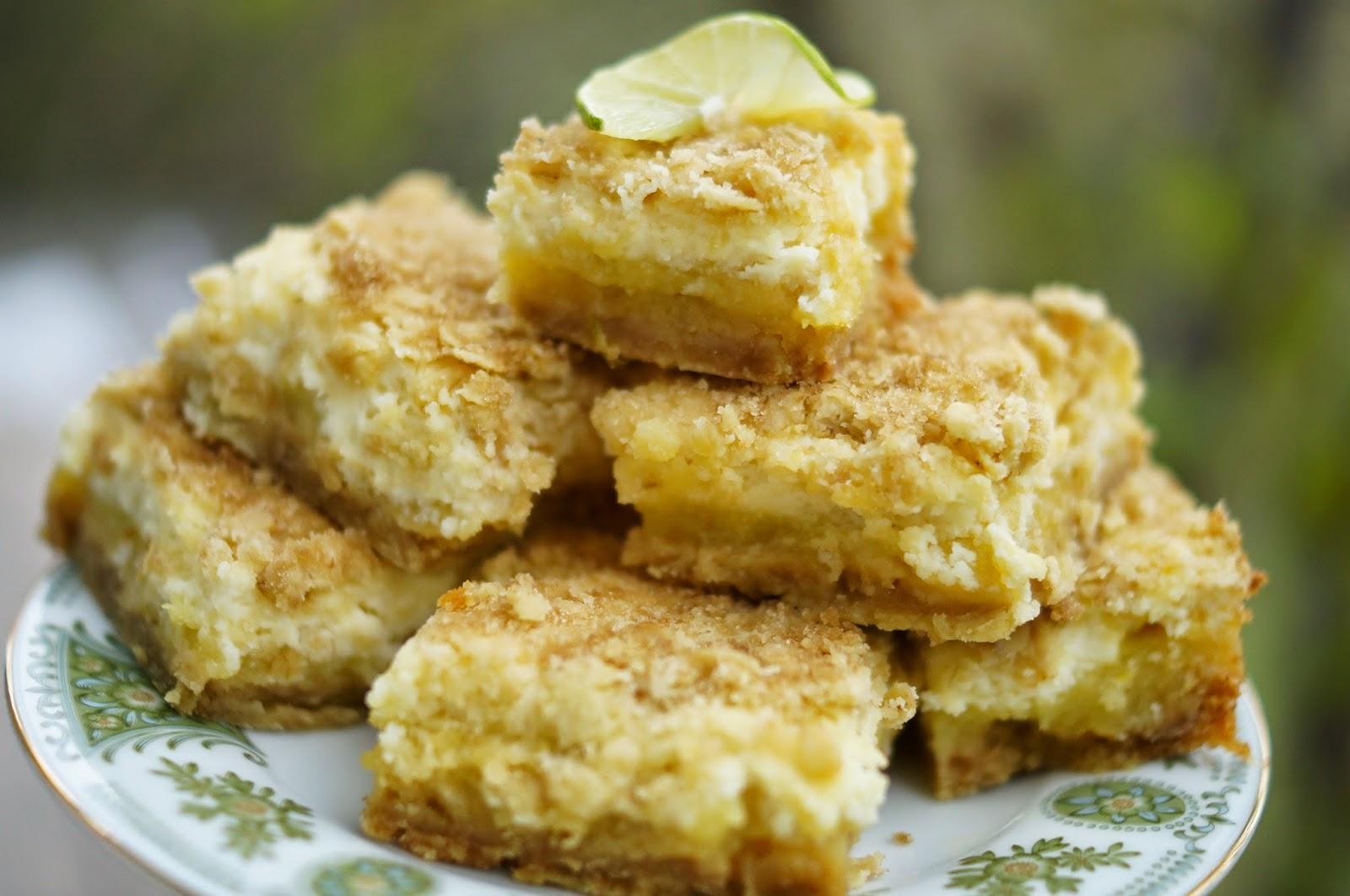 Key Lime Cheesecake Bars Printable Recipe