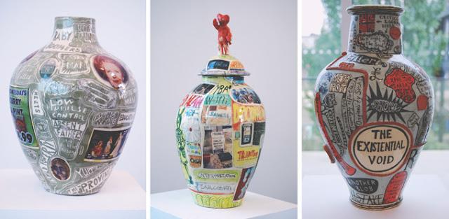 Grayson Perry pots
