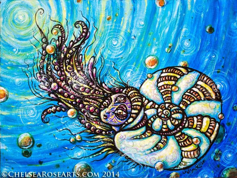 Saint Nautilus-original acrylic painting
