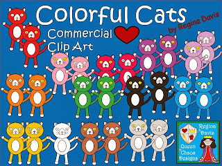 http://www.teacherspayteachers.com/Product/A-Colorful-Cats-Commercial-Clip-Art-966081