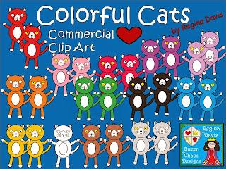 http://www.teacherspayteachers.com/Product/A-Colorful-Cats-Commercial-Clip-Art-966081