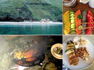 Gwyneth Paltrow barbeque in Komodo island, chiken satay, sate ayam, indonesian food