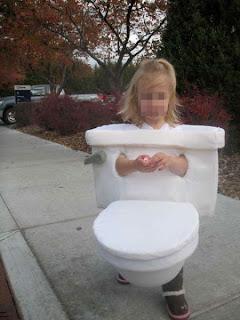 Fantasia Infantil de vaso sanitário