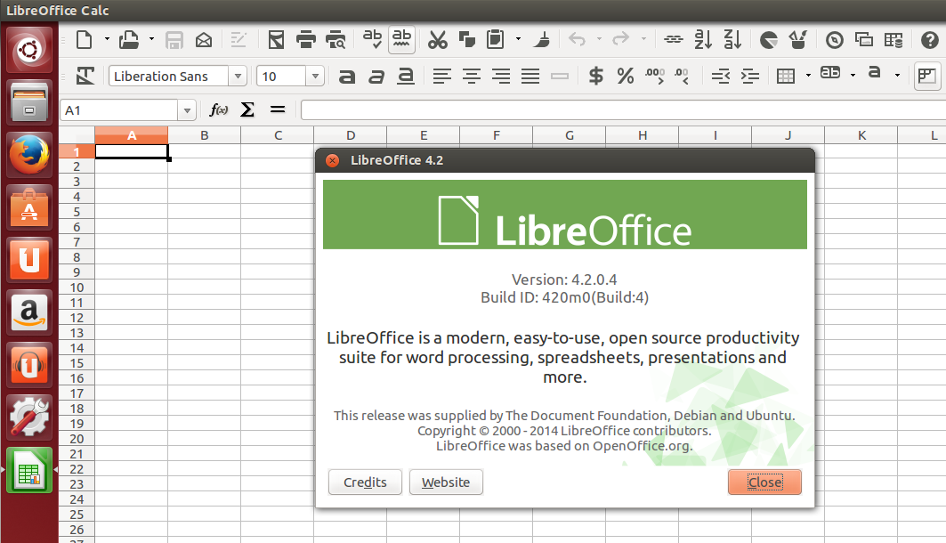 LibreOffice 4.2 Ubuntu Trusty