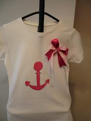 Camiseta Ancla Rosa